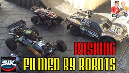 RC Car Bashing filmed by SoloShot2 Robots