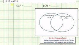 Ex 1: Determine the GCF and LCM using Prime Factors and a Venn Diagram