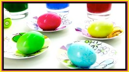 Easter Eggs - Color Dye Demo With Cat And Cow