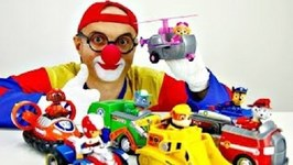 General Car Clown - Paw Patrol Toy Trucks Parade  Children's Videos For Clowns And Kids