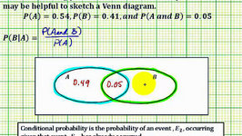 Ex 1: Determine a Conditional Probability Using a Venn Diagram - P(BA)