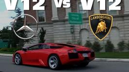 4 Door Mercedes Races V12 Lamborghini