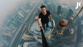 Climbing the Almas Tower in Dubai (360M And CLOSE CALL)