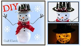 Easy Light Up Snowman  Dollar Store Craft  DIY Project  Craft Klatch  How To