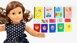 Make American Girl Notebooks Folders And Color Paper Dollhouse Diy Easy Doll Crafts