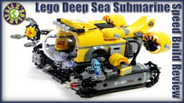 Lego City Deep Sea Submarine 60092 Stop Motion Review  ALEXSPLANET