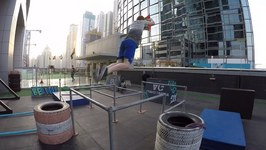 Epic Parkour Park On A Rooftop In Dubai