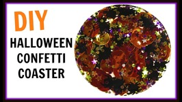 Easy Halloween Confetti Coasters  DIY Project  Craft Klatch  Resin How To