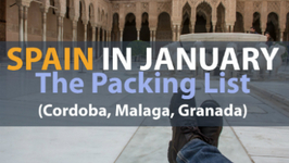 What's In My Bag - Packing List - Spain in Winter