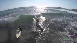 Surfing Alexandra Headland On Sunshine Coast In Queensland - Australia