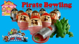 Learning numbers - Pirate Bowling With Skylander Food Fight And Lego
