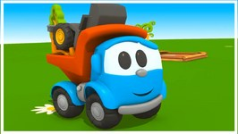 Toy Trucks - Meet Leo Junio  Tutitu style Kid's 3D Educational Construction Cartoons for Children