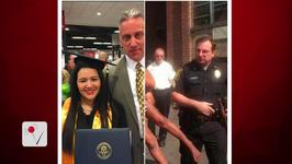 Officer Attends Graduation of Girl He Saved 18 Years Earlier