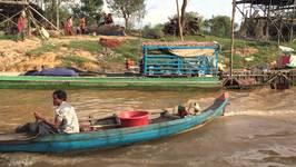 Entering Kampong Phluk by boat - Cambodia