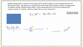 Convert Square Feet To Square Yards (Unit Fractions)
