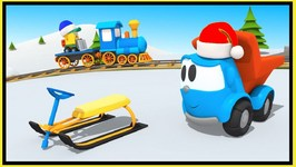 Truck Cartoons  Leo Junior Makes A Snow  Sledge For Christmas And Winter