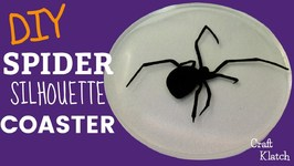 Halloween Spider Silhouette Coaster DIY  Another Coaster Friday