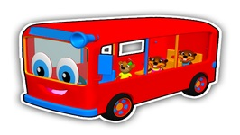 Red Bus Wait for Me - Children's Colors Learning Song