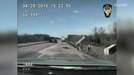 Dash Cam Video Shows Ohio State Trooper Save Truck Driver's Life