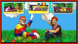 Car Сlown And Masha - Counting Cars Race - Videos For Kids