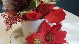 Holiday Teacup Bouquet - DIY Christmas