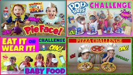 Kids Food Challenge Compilation Video With Magic Box Toys Collector And Pierce's World Collaboration