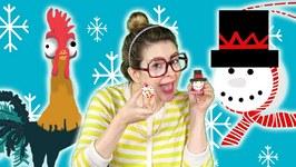 Snowman DIY Ornament   Moana's Hei Hei!  Arts and Crafts with Crafty Carol