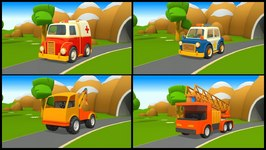 Rescue Trucks And Vehicles  3D Learning Cartoons - Childrens Videos