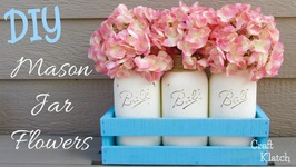 Chalk paint Spring Mason Jar Craft  DIY Project  Craft Klatch