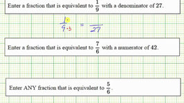 Ex: Determine Equivalent Fractions