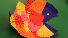 Paper Plate Colorful Fish