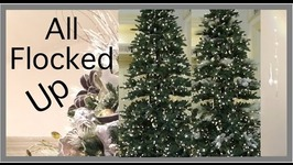 Christmas Decorating 2016  EASY way to Flock a Christmas Tree