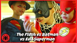 The Flash Vs Batman Vs Evil Superman RED THING Superhero Real Life Movie Fun Comics SuperHero Kids