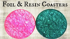 DIY Foil and Resin Coasters  Another Coaster Friday  Craft Klatch