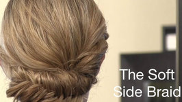 Soft Side Braided Updo Tutorial Using a Fishtail Braid