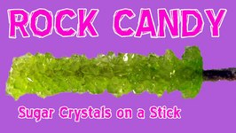 How to make ROCK CANDY Sugar Crystals on a Stick