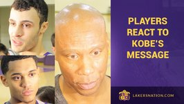 Lakers React To Kobe Bryant's Team Message After 37th Loss