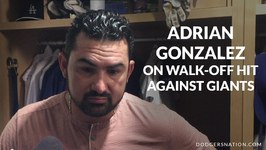 Adrian Gonzalez On Walk-Off Hit Against Giants