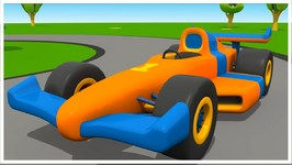 Cartoons For Children - Leo's Racing Car - Kid's 3D Construction