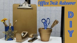 Ugly Office Desk? Try My DIY - Back To School Desk Supplies Makeover