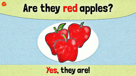 Colored Fruit - Pattern Practice for ESL/EFL Kids - Are they red apples