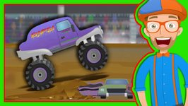 Monster Trucks for Children with Blippi - The Monster Truck Song