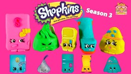 New Shopkins Season 3 Limited Edition Search   Mini Play Doh Shopkins Eggs