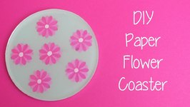 Paper Flower Coaster DIY Another Coaster Friday Craft Klatch