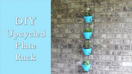 DIY Upcycled Plate Rack