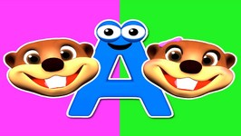 Chant the Alphabet - 2 - Learn the ABCs with Baby Beavers - Fun and Colorful Educational Video