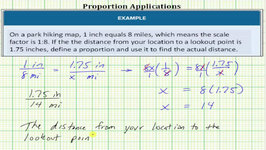 Proportion Applications: Map Scale Factor (Clear Fractions, No Cross Products)