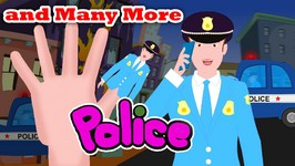 Finger Family Police Family  Finger Family Songs  Funny Finger Family collection