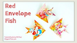 Chinese New Year Crafts: RED ENVELOPE FISH- Easy Paper Crafts Tutorial