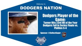 Dodgers Highlights Player of the Game Justin Turner Homers in Dodgers 5-4 Loss vs. Phillies